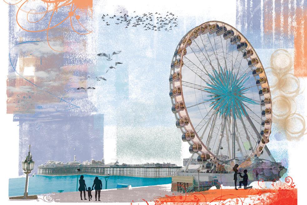 Big Wheel and Pier Brighton