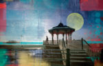 Brighton Bandstand and Full Moon
